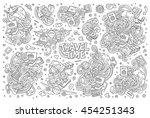 line art vector hand drawn...   Shutterstock .eps vector #454251343