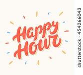 happy hour banner.   Shutterstock .eps vector #454266043