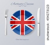 authentic cuisine of great... | Shutterstock .eps vector #454273123