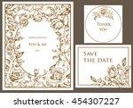 wedding set. menu  save the... | Shutterstock .eps vector #454307227