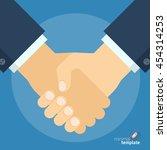 flat design vector handshake...