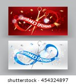 grand opening banner with... | Shutterstock .eps vector #454324897