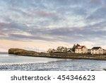 hofn on sunrise in winter.... | Shutterstock . vector #454346623