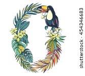 vector illustration tropical...   Shutterstock .eps vector #454346683