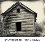 Side Of Abandoned Barn In...