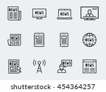 news vector icon set in thin... | Shutterstock .eps vector #454364257
