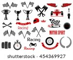 isolated icons for motosport... | Shutterstock .eps vector #454369927