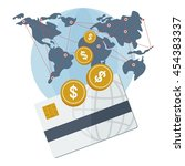 the global payment system. bank ... | Shutterstock .eps vector #454383337