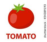 tomato icon cartoon. singe... | Shutterstock .eps vector #454389193