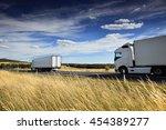 truck on the road   Shutterstock . vector #454389277