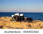 old vintage camera and... | Shutterstock . vector #454401463