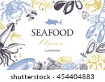 vector card or menu design with ... | Shutterstock .eps vector #454404883
