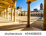 Small photo of View of Palazzo Ducale on Piazza Castello in Mantua - Italy