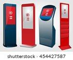 set of  promotional interactive ... | Shutterstock .eps vector #454427587