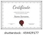 certificate  diploma of... | Shutterstock .eps vector #454429177