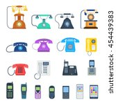 Modern Telephones And Vintage...