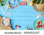 summer vacation holiday nature... | Shutterstock . vector #454453147