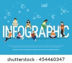 infographic concept... | Shutterstock .eps vector #454460347