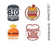set of burger logo  burger...   Shutterstock .eps vector #454473757