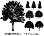 vector deciduous trees isolated ... | Shutterstock .eps vector #454480657