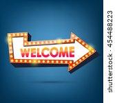 welcome billboard. retro arrow... | Shutterstock .eps vector #454488223