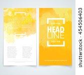 vector design elements template ... | Shutterstock .eps vector #454506403