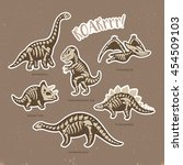 collection of stickers with... | Shutterstock .eps vector #454509103