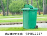 close lid green trashcan at the ... | Shutterstock . vector #454513387