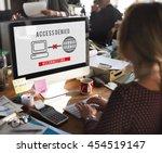 access denied password... | Shutterstock . vector #454519147