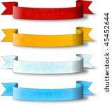christmas label ribbon clip art ... | Shutterstock . vector #45452644