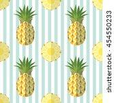 truncated pineapples isolated... | Shutterstock .eps vector #454550233