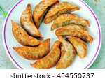 crispy fried dumplings | Shutterstock . vector #454550737