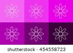 flower icon set flat design ...   Shutterstock .eps vector #454558723