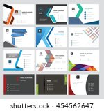 set vector modern creative and... | Shutterstock .eps vector #454562647