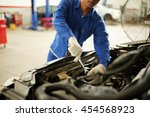 cropped image of mechanic... | Shutterstock . vector #454568923