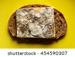 moldy cheese. sandwich with... | Shutterstock . vector #454590307