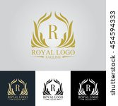 luxury logo | Shutterstock .eps vector #454594333