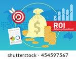 roi return on investment | Shutterstock .eps vector #454597567