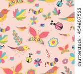 summer and spring color vector  ... | Shutterstock .eps vector #454607533