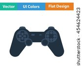 gamepad  icon. flat color...
