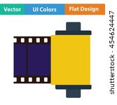 photo cartridge reel icon. flat ...