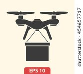 drone icon vector | Shutterstock .eps vector #454657717