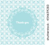thank you card template... | Shutterstock .eps vector #454659283