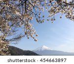 fuji mountain view in japan... | Shutterstock . vector #454663897