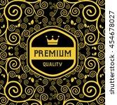 label of retro vintage badges    Shutterstock .eps vector #454678027