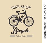 vintage bicycle isolated icon... | Shutterstock .eps vector #454690177