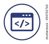code icon. flat design. | Shutterstock .eps vector #454701763