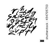 expressive calligraphic script... | Shutterstock .eps vector #454705753