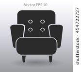comfortable armchair vector...   Shutterstock .eps vector #454722727