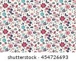 trendy seamless floral pattern... | Shutterstock .eps vector #454726693